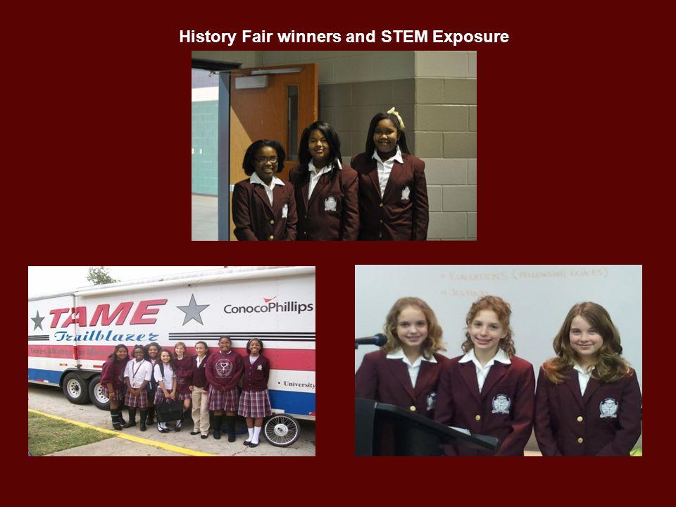 History Fair winners and STEM Exposure