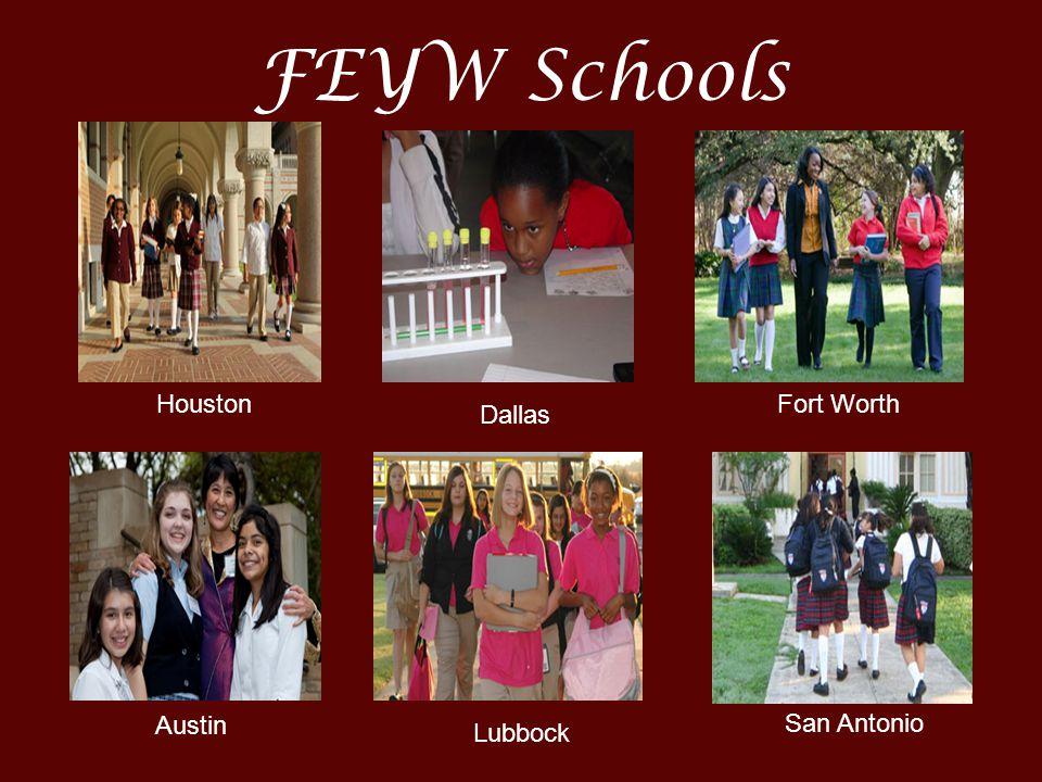 FEYW Schools Houston Austin Dallas Lubbock Fort Worth San Antonio