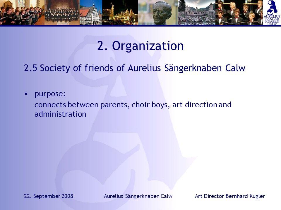 Art Director Bernhard Kugler22. September 2008Aurelius Sängerknaben Calw 2.