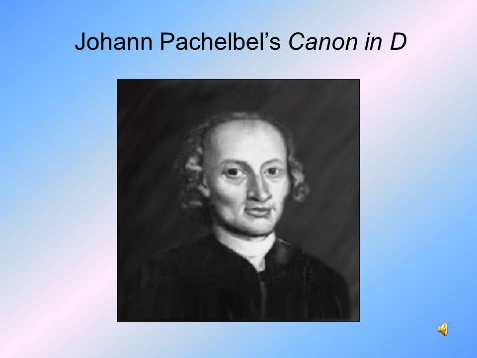 Johann Pachelbel's Canon in D