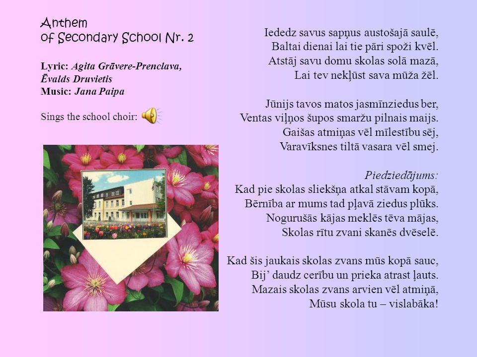 Anthem of Secondary School Nr.