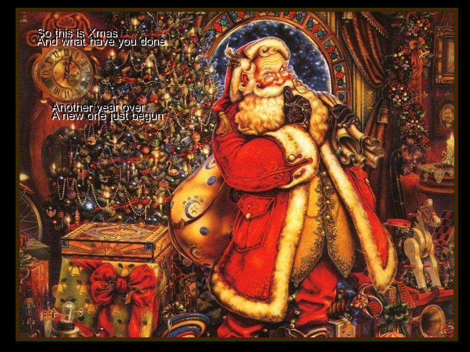 Celine Dion sings Celine Dion sings And so this is Christmas And so this is Christmas