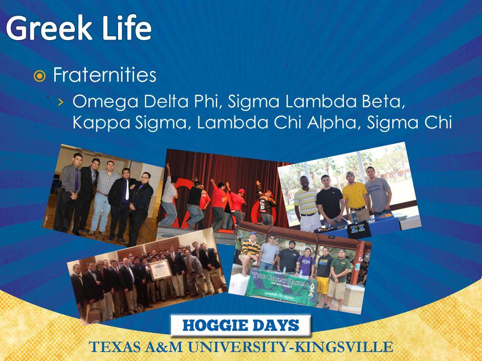  Fraternities › Omega Delta Phi, Sigma Lambda Beta, Kappa Sigma, Lambda Chi Alpha, Sigma Chi