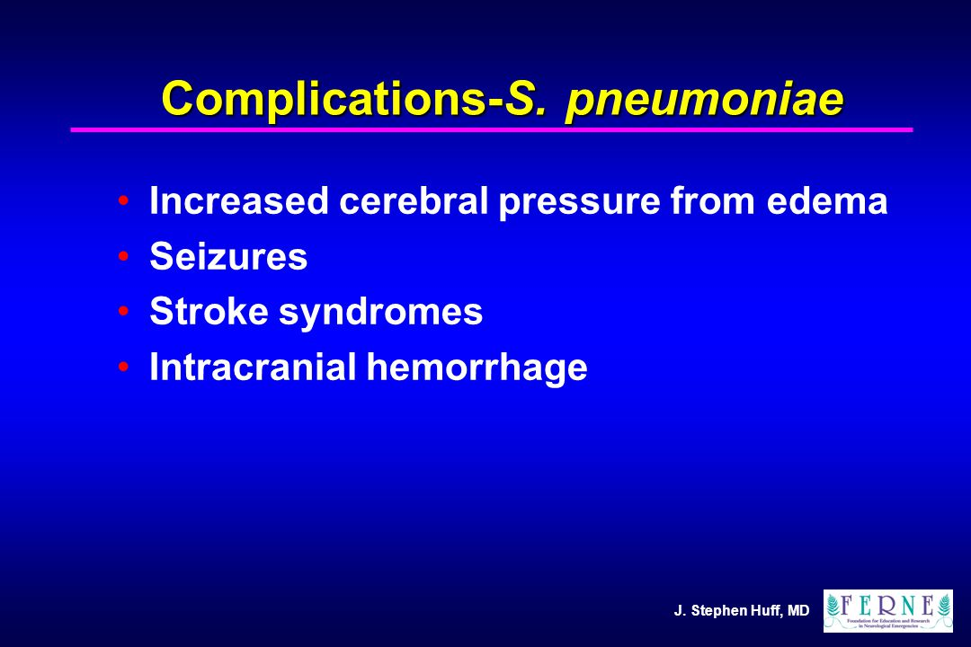J. Stephen Huff, MD Complications-S.