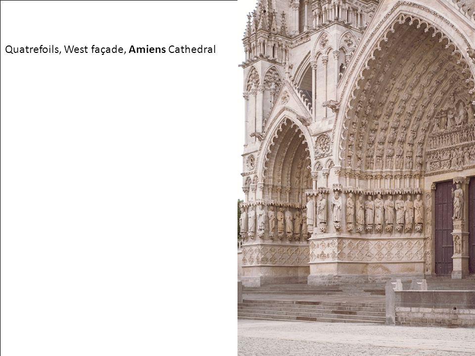 Quatrefoils, West façade, Amiens Cathedral