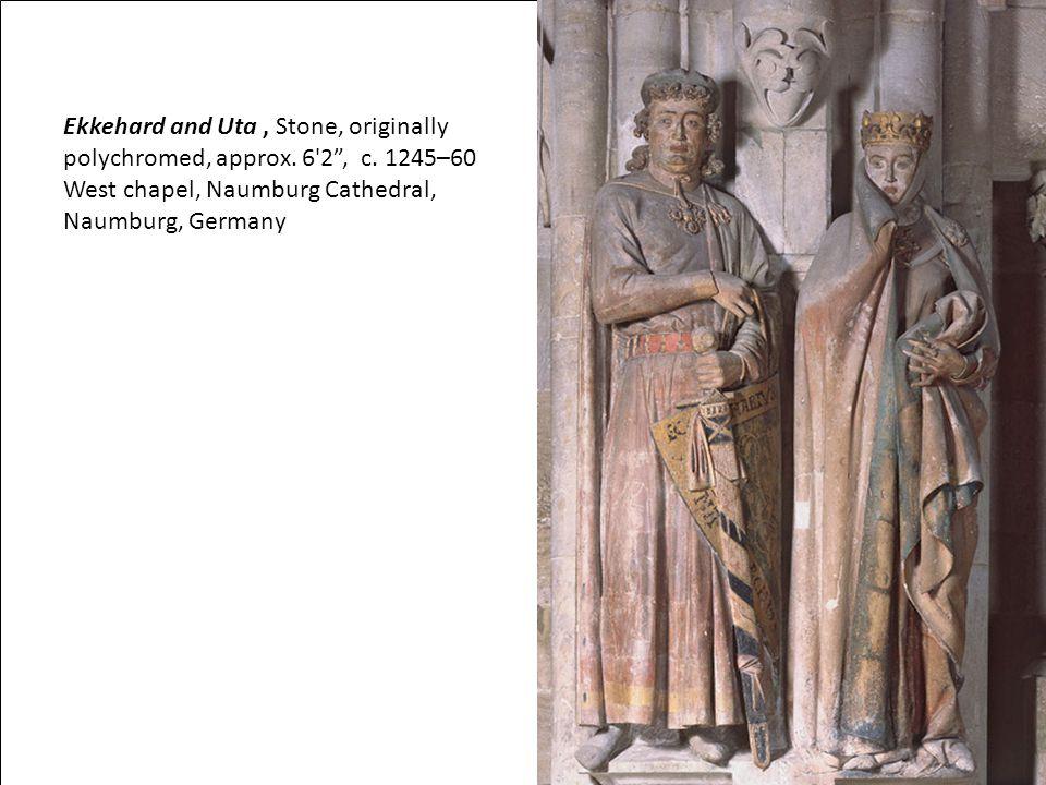 Ekkehard and Uta, Stone, originally polychromed, approx.