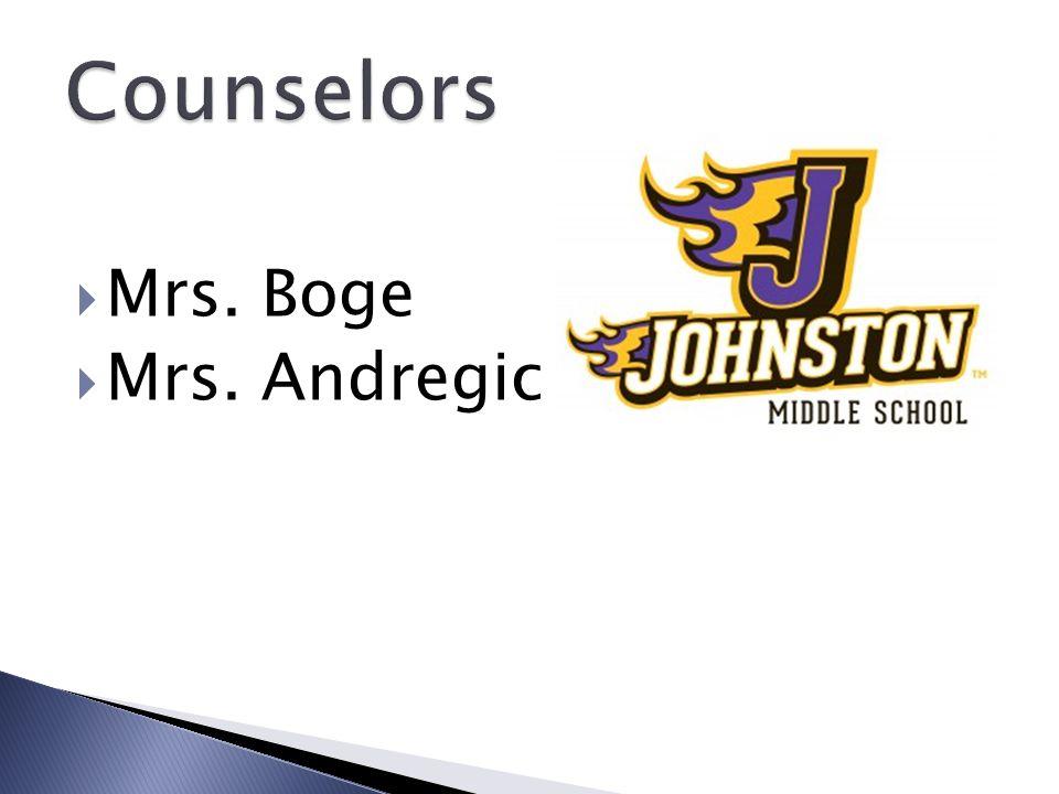  Mrs. Boge  Mrs. Andregic