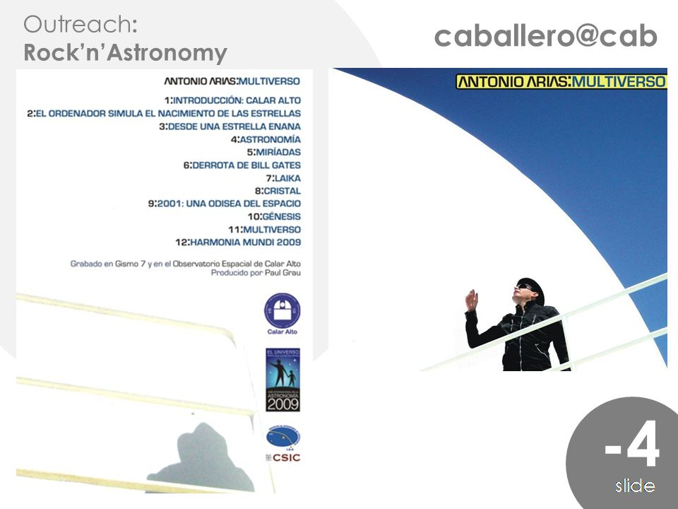 caballero@cab -4 Outreach : Rock'n'Astronomy