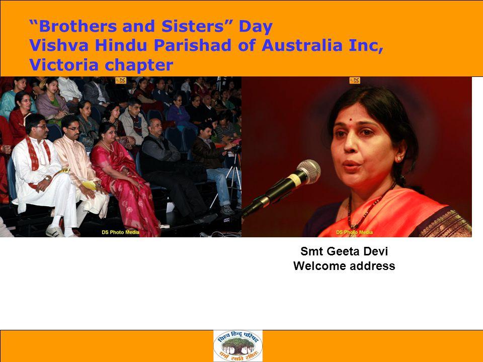 Smt Geeta Devi Welcome address