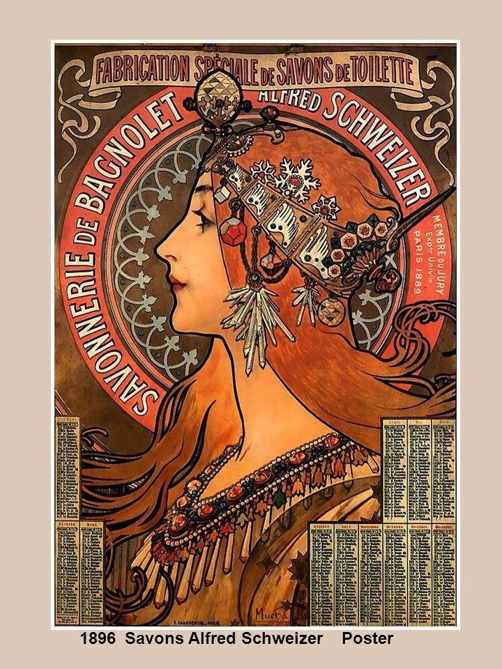 Savons Alfred Schweizer Poster 1896