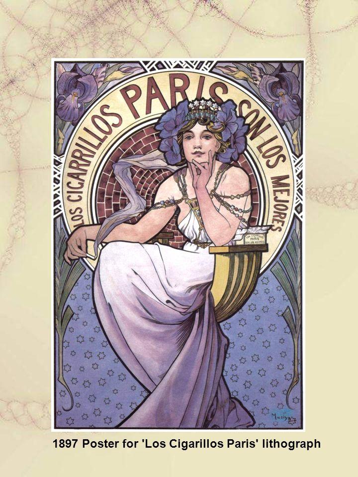 1897 Poster for Los Cigarillos Paris lithograph