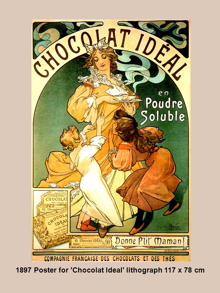 1897 Poster for Chocolat Ideal lithograph 117 x 78 cm