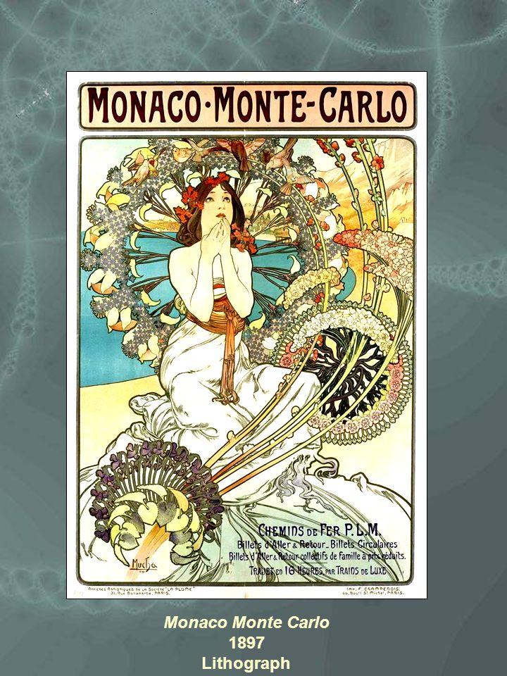 Monaco Monte Carlo 1897 Lithograph