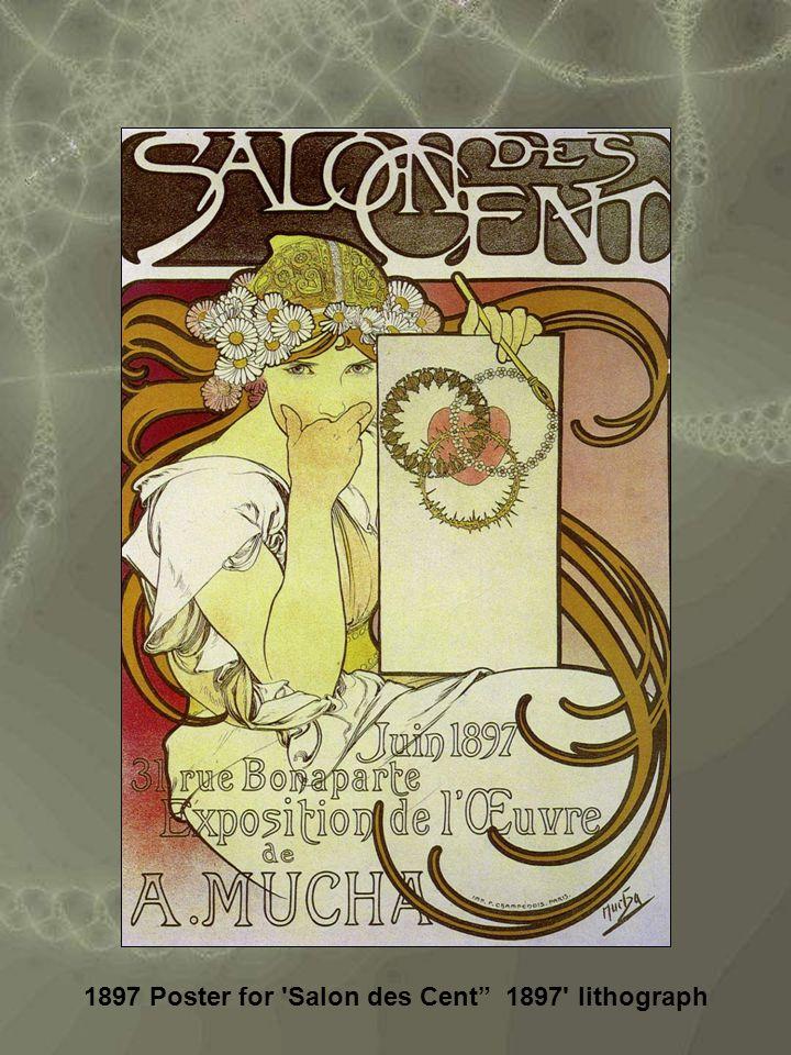1897 Poster for Salon des Cent 1897 lithograph