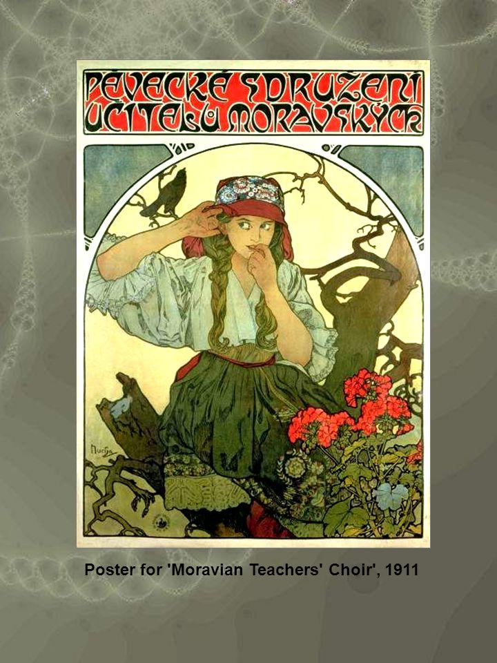 Poster for Moravian Teachers Choir , 1911