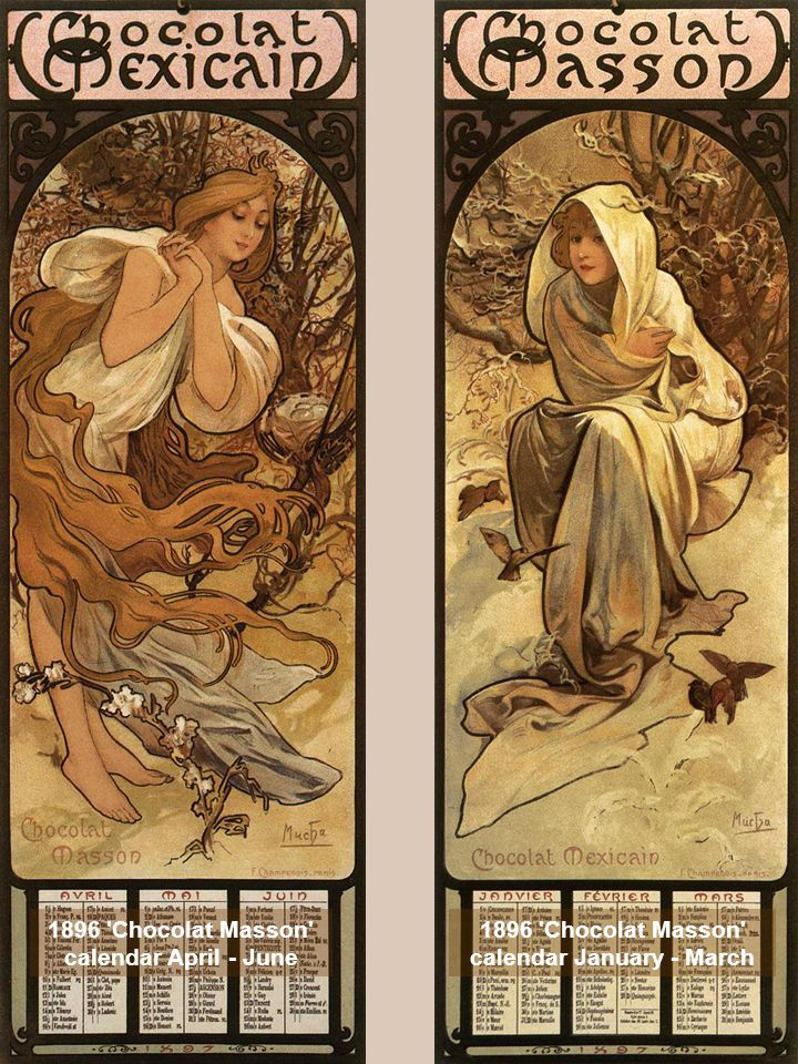 1898 Calendar of Cherry Blossom lithograph © Alphonse Mucha Estate-Artists Rights Society (ARS), New York-ADAGP, Paris