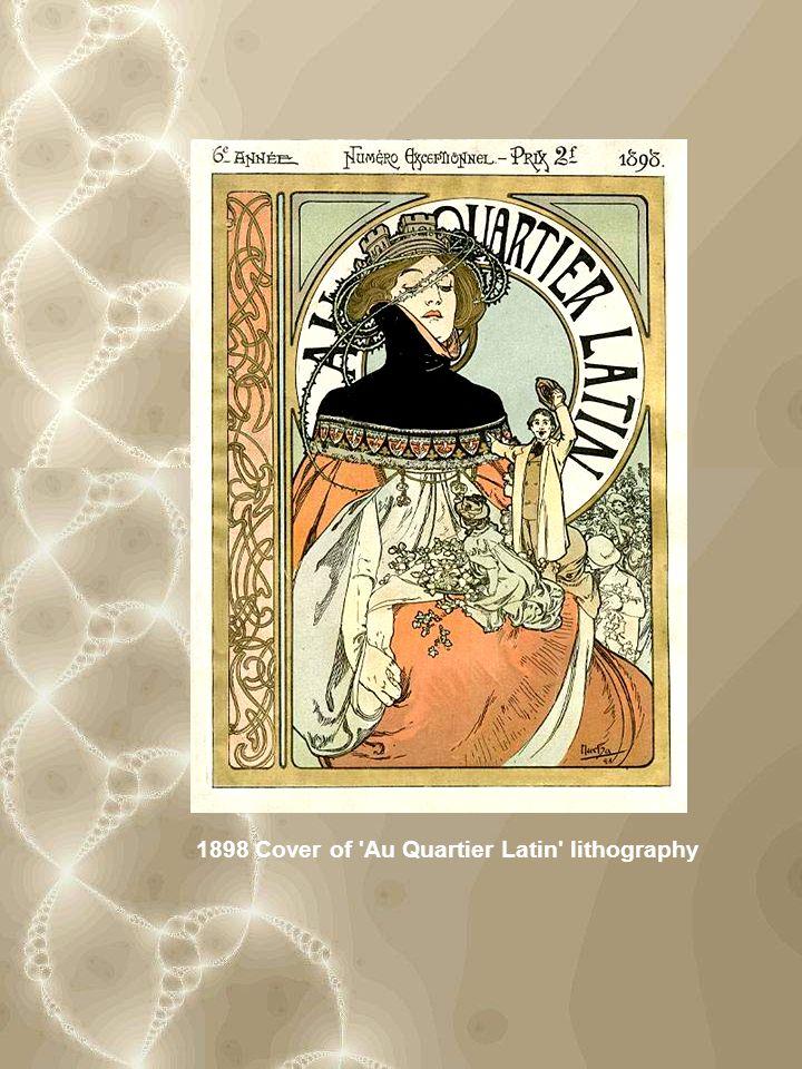 1898 Cover of Au Quartier Latin lithography