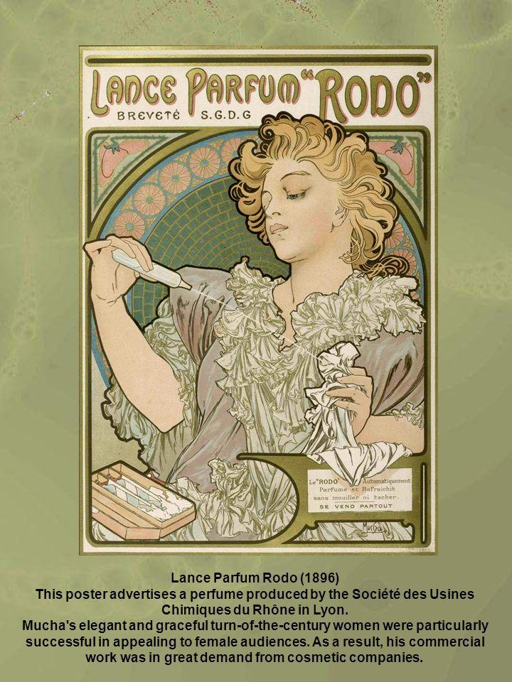 Lance Parfum Rodo (1896) This poster advertises a perfume produced by the Société des Usines Chimiques du Rhône in Lyon.