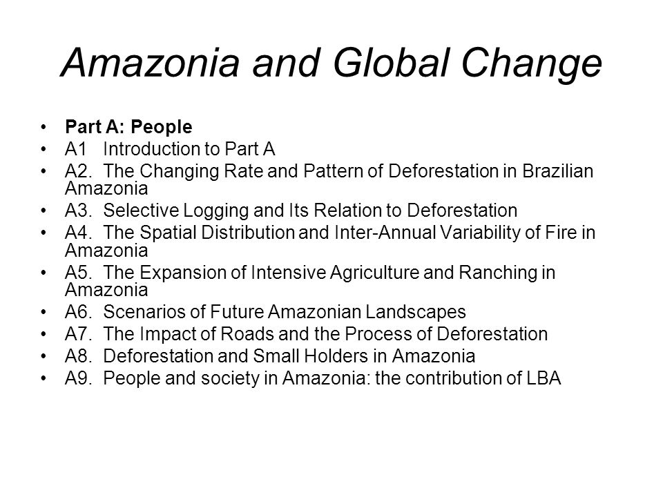 Amazonia and Global Change Part B: Air B1.Introduction to Part B B2.