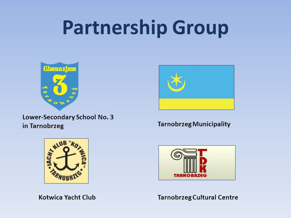 Partnership Group Lower-Secondary School No. 3 in Tarnobrzeg Tarnobrzeg Municipality Kotwica Yacht ClubTarnobrzeg Cultural Centre