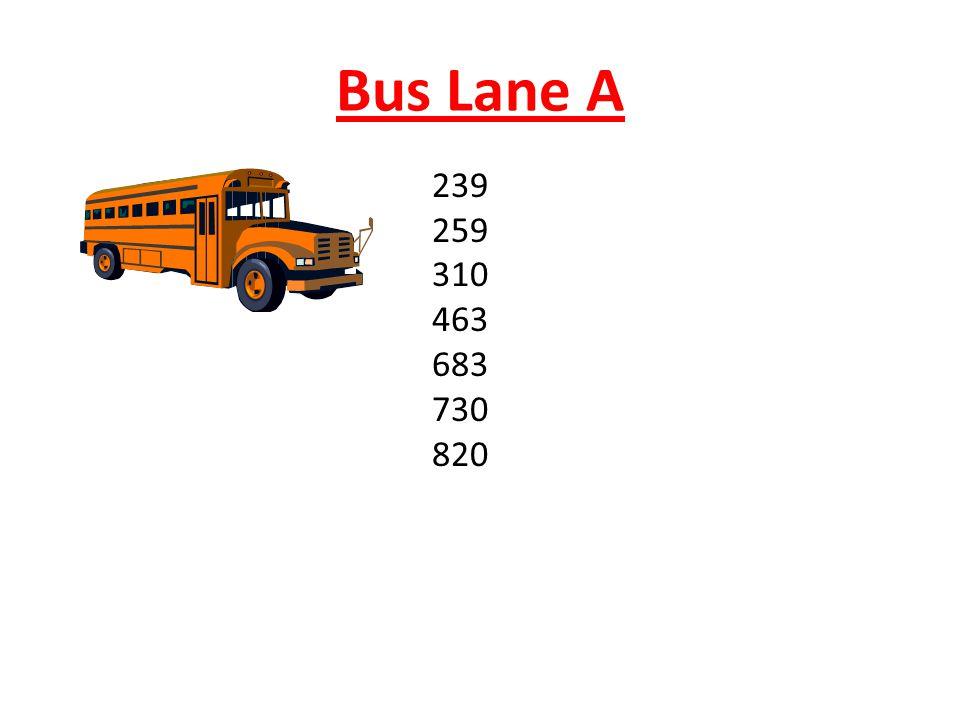 Bus Lane A 239 259 310 463 683 730 820