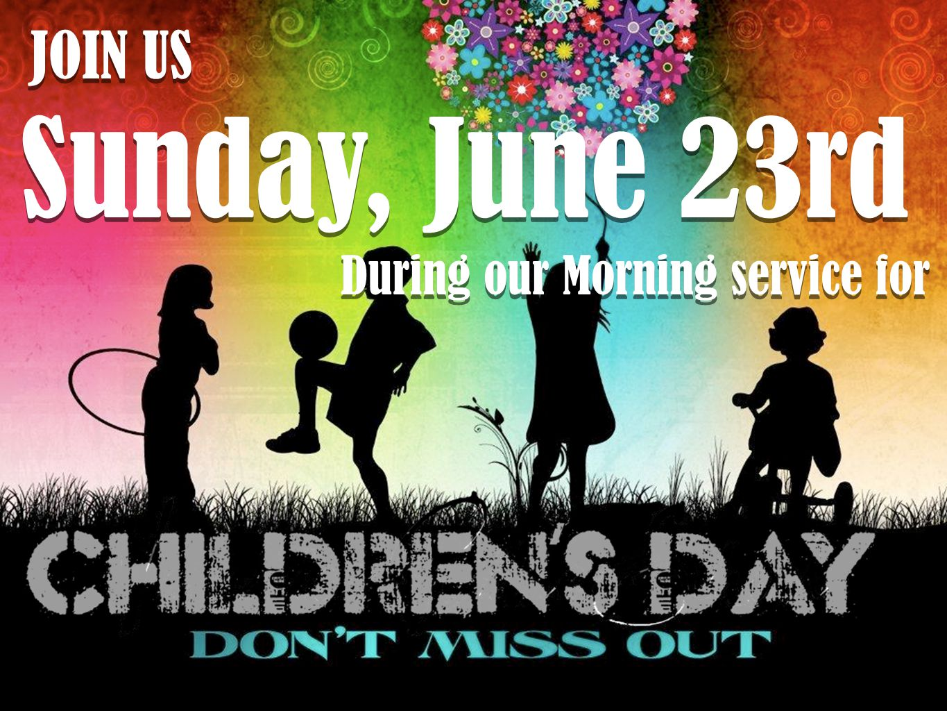 JOIN US Sunday, June 23rd During our Morning service for JOIN US Sunday, June 23rd During our Morning service for