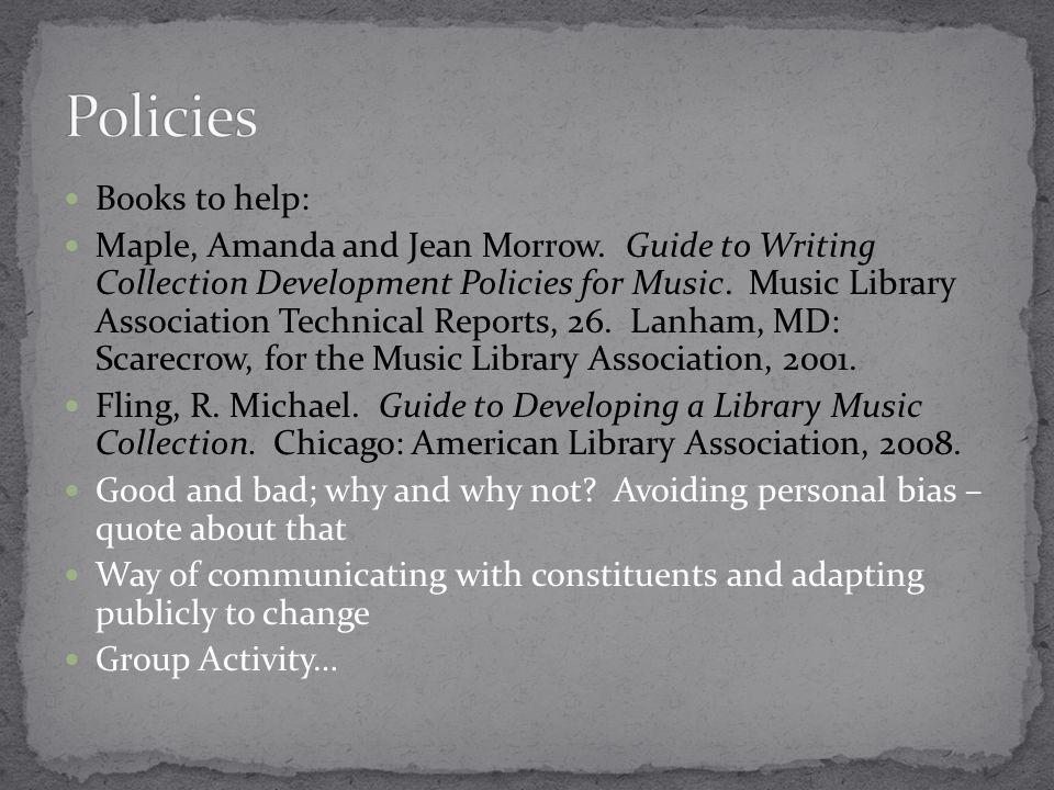 Books to help: Maple, Amanda and Jean Morrow.