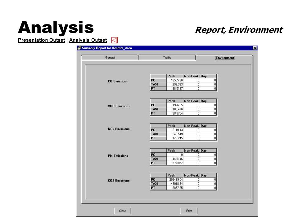 Analysis Report, Environment Presentation Outset | Analysis Outset Presentation OutsetAnalysis Outset