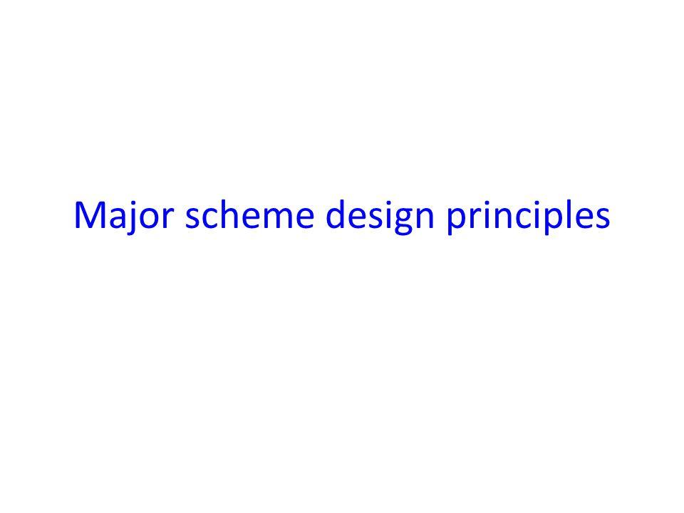 Major scheme design principles