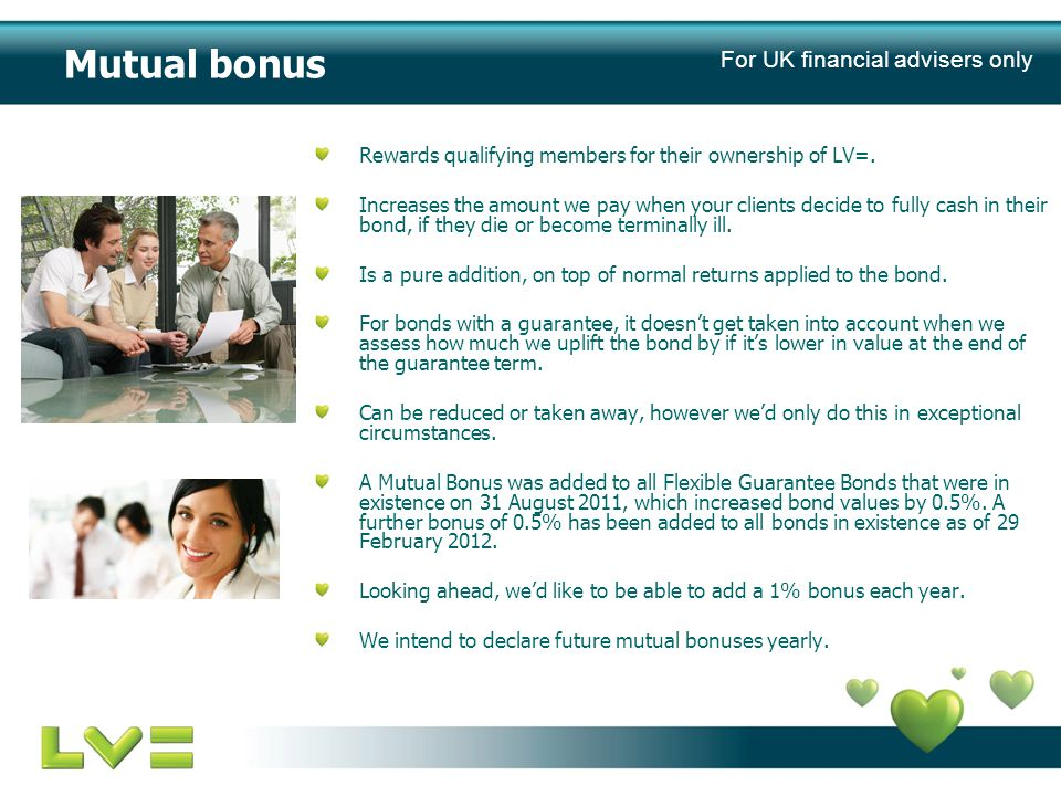 Mutual bonus Rewards qualifying members for their ownership of LV=.