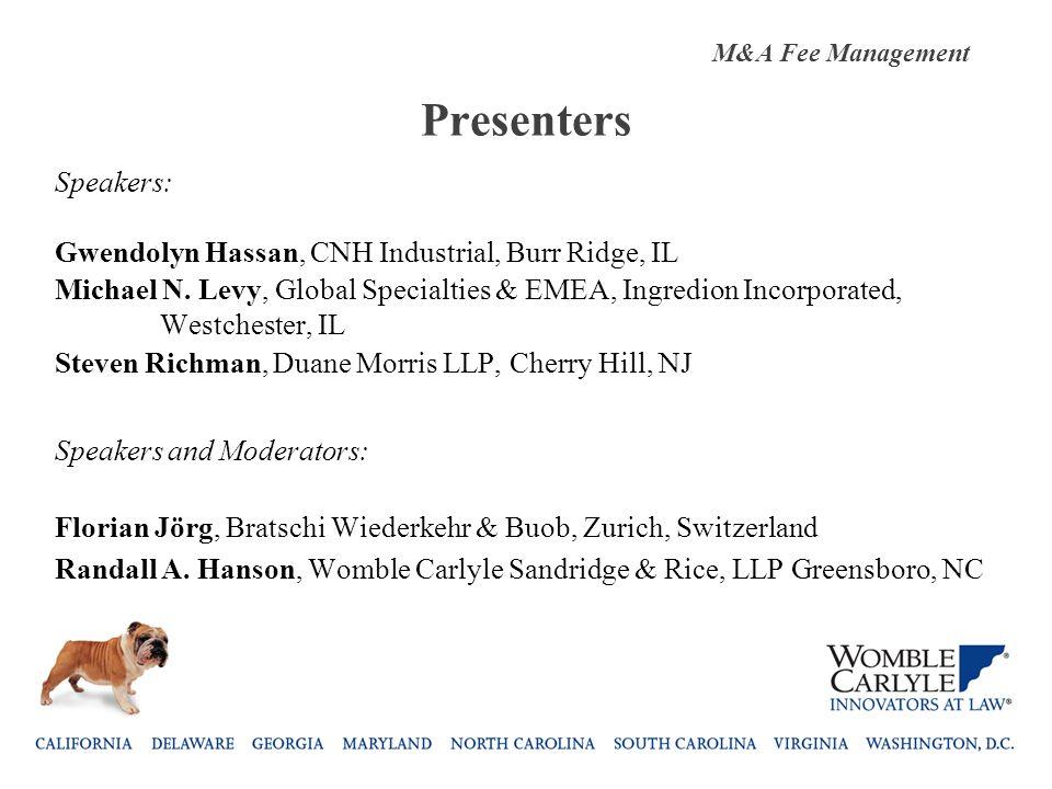 Presenters Speakers: Gwendolyn Hassan, CNH Industrial, Burr Ridge, IL Michael N.