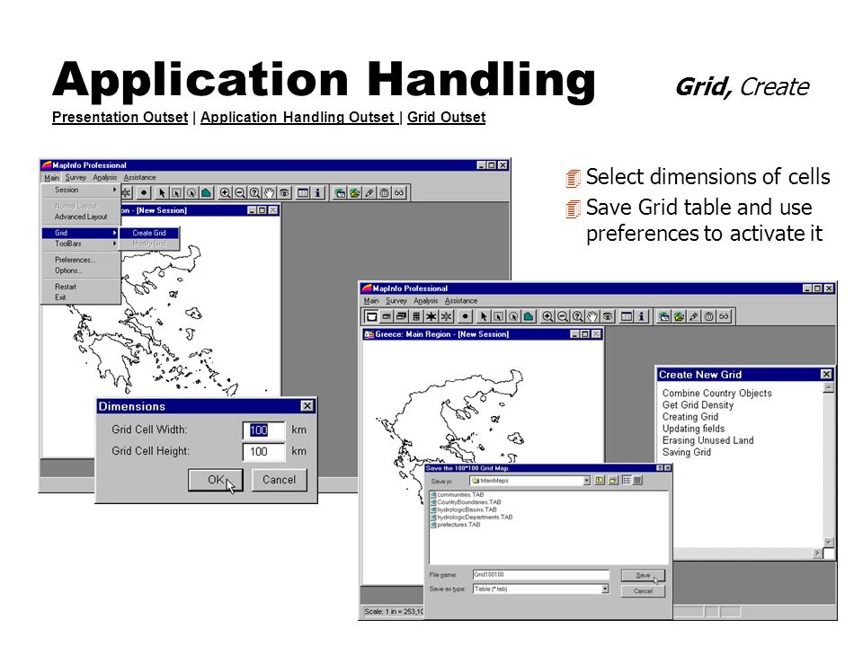 Application Handling Grid, Create Presentation Outset | Application Handling Outset | Grid Outset Presentation OutsetApplication Handling Outset Grid