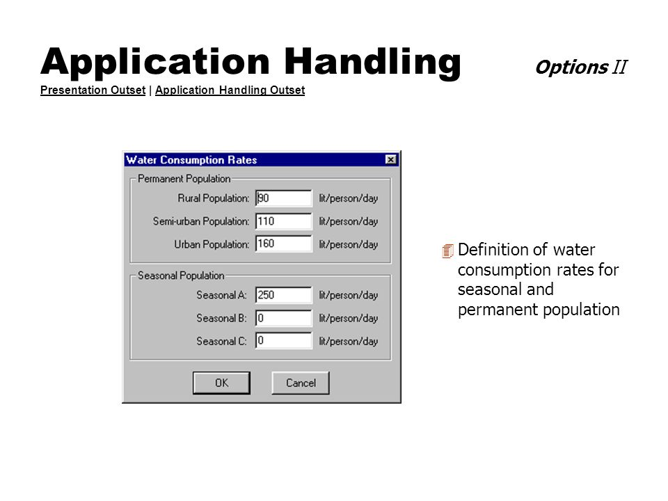 Application Handling Options II Presentation Outset | Application Handling Outset Presentation OutsetApplication Handling Outset 4 Definition of water
