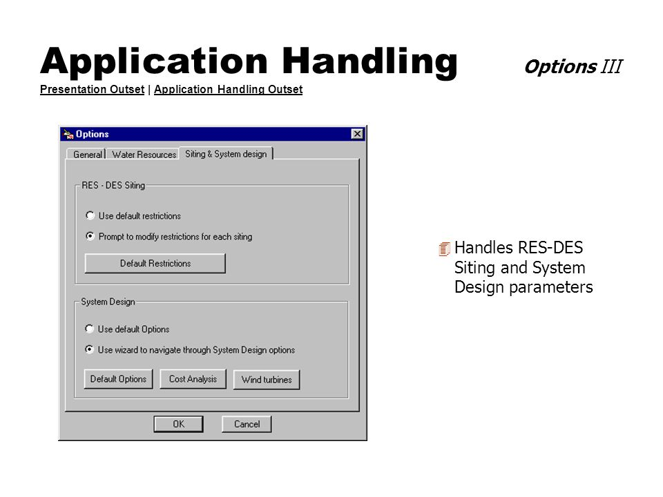 Application Handling Options III Presentation Outset | Application Handling Outset Presentation OutsetApplication Handling Outset 4 Handles RES-DES Si