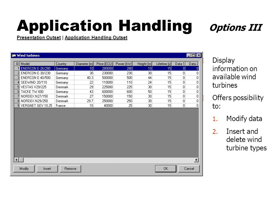 Application Handling Options III Presentation Outset | Application Handling Outset Presentation OutsetApplication Handling Outset 4 Display informatio