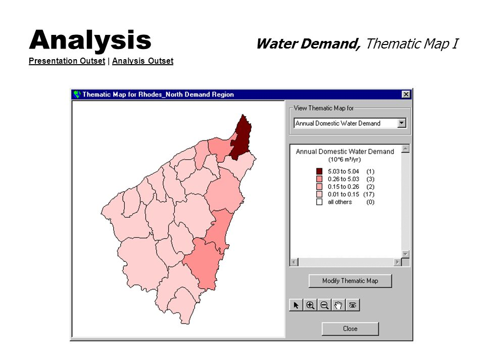 Analysis Water Demand, Thematic Map I Presentation Outset | Analysis Outset Presentation OutsetAnalysis Outset
