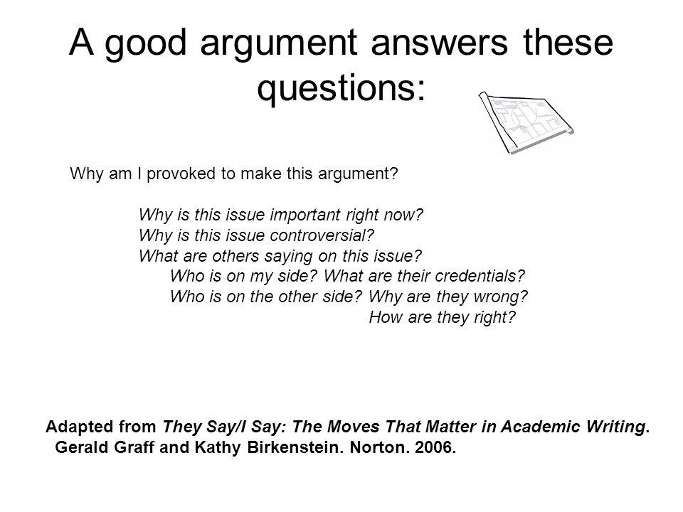 A good argument is a response to opposition: