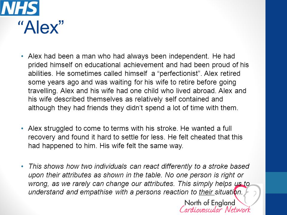 Alex Alex had been a man who had always been independent.