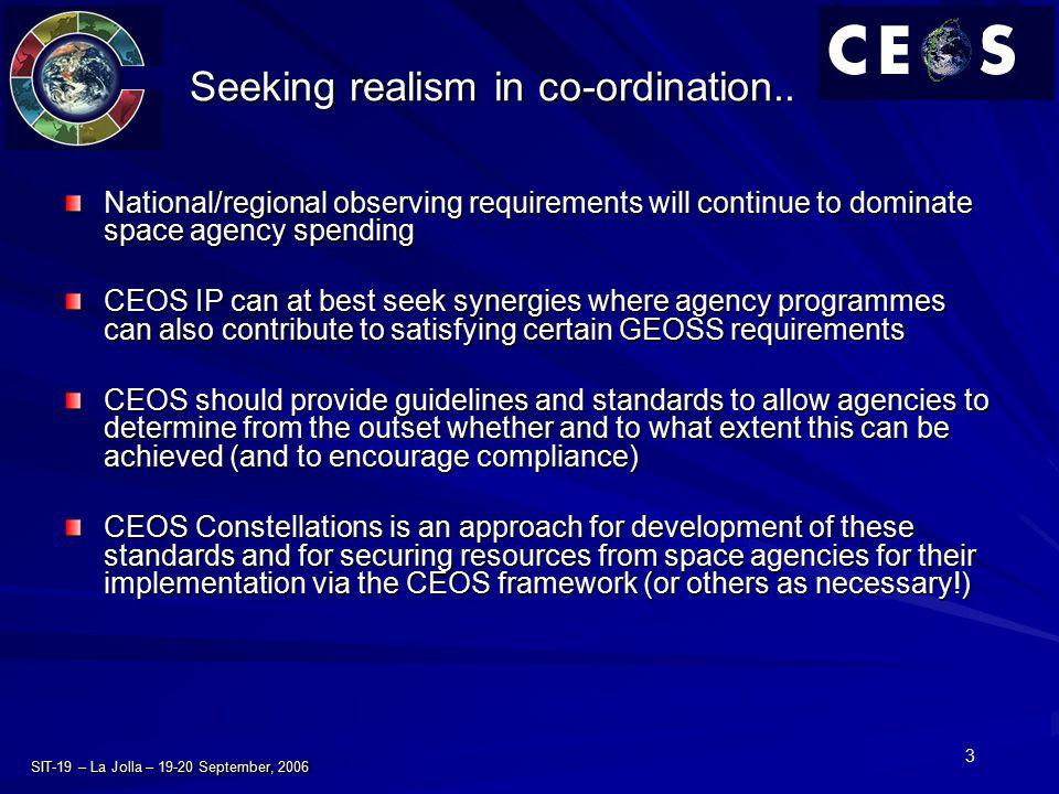 3 SIT-19 – La Jolla – 19-20 September, 2006 Seeking realism in co-ordination..