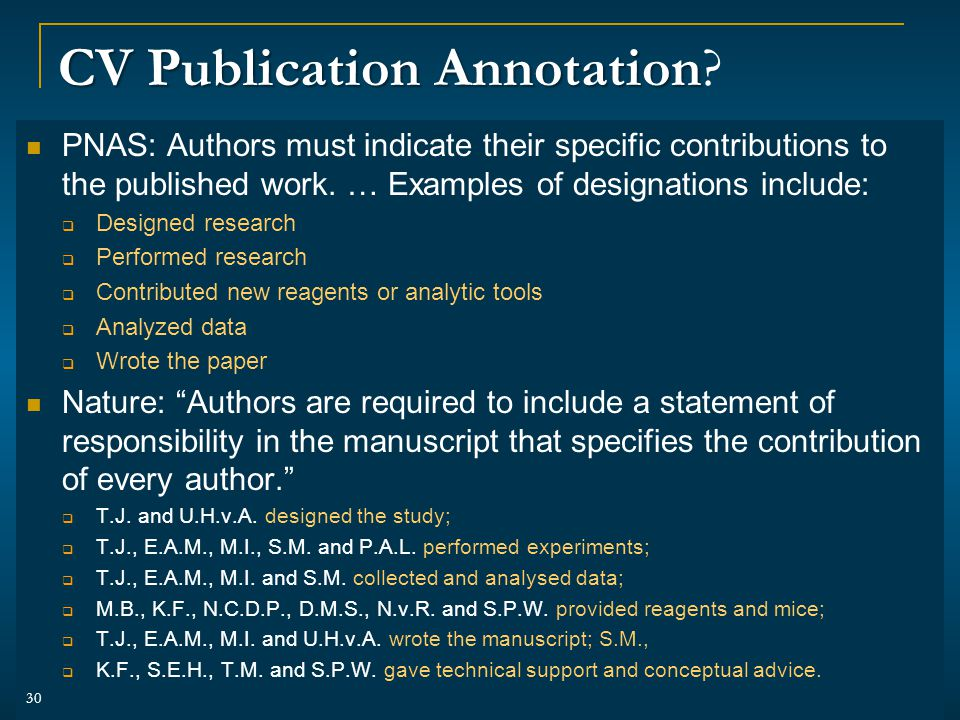 CV Publication Annotation CV Publication Annotation.