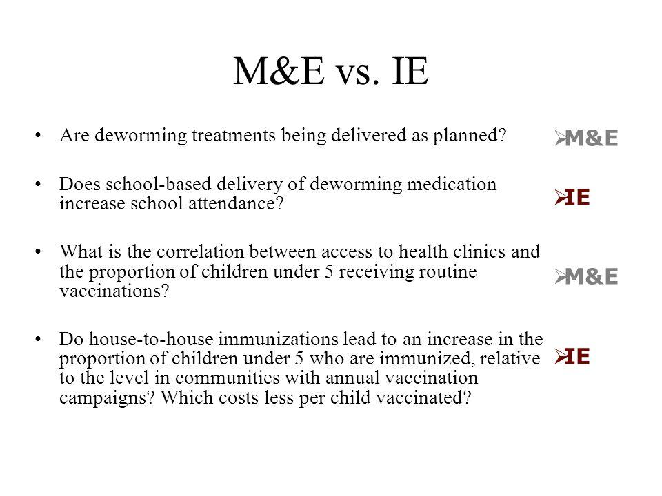 M&E vs.
