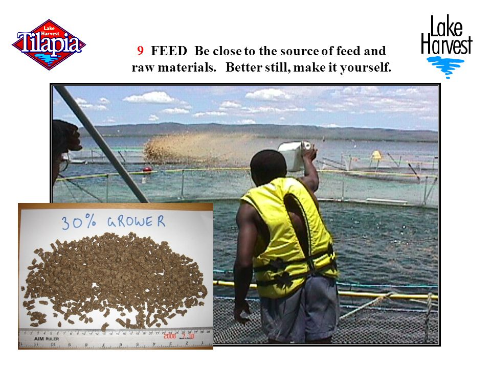 9 FEED Be close to the source of feed and raw materials. Better still, make it yourself.