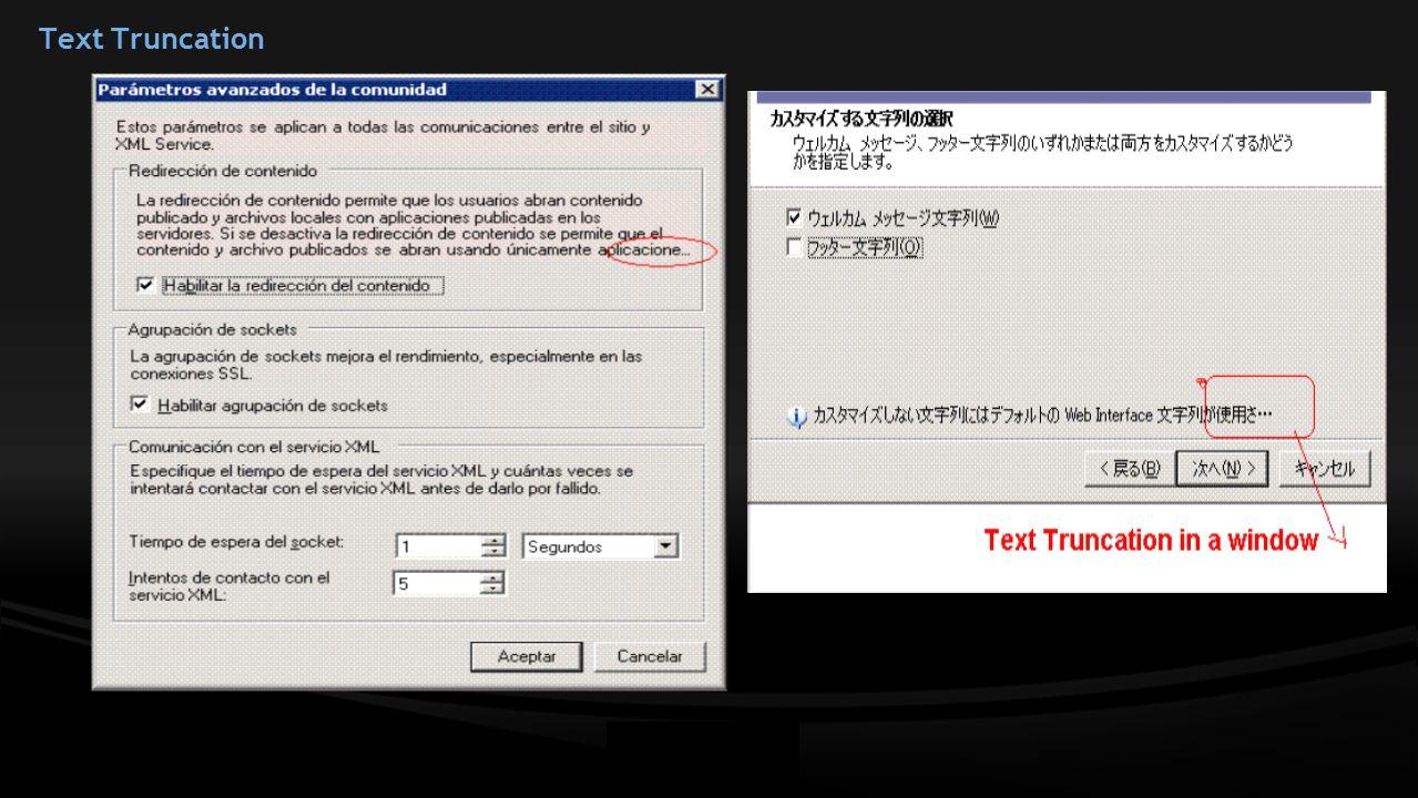 Text Truncation