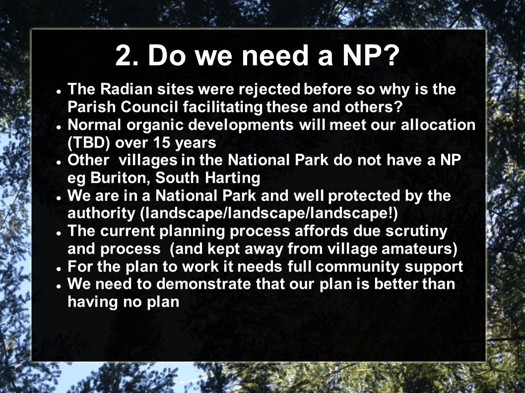 2. Do we need a NP.