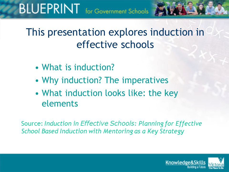 Its not enough to hand out an induction booklet at the start of the year and think that that's it… …it cannot be left to chance