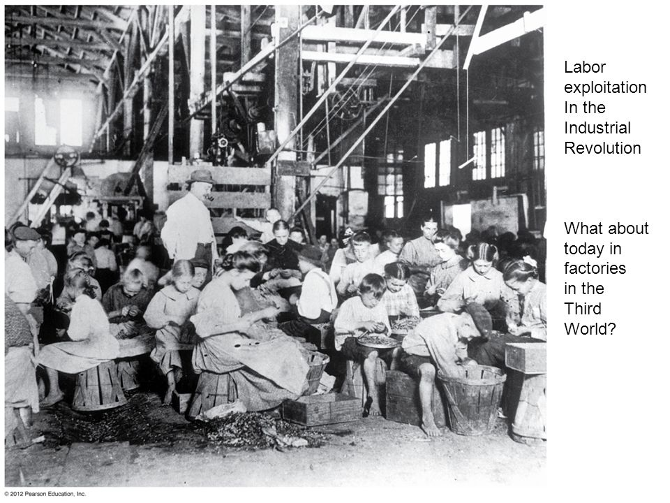Labor exploitation In the Industrial Revolution What about today in factories in the Third World?