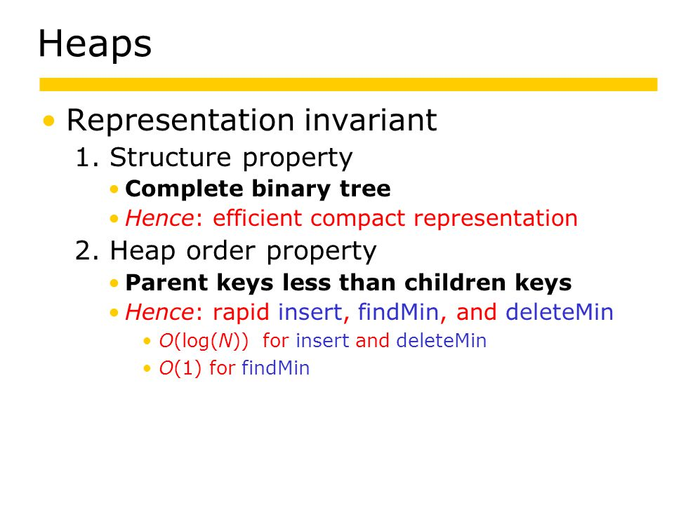 Heaps Representation invariant 1.