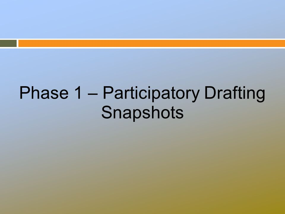 Phase 1 – Participatory Drafting Snapshots