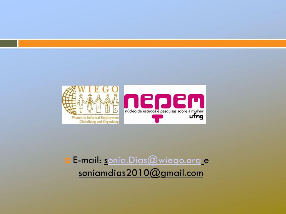  E-mail: sonia.Dias@wiego.org e soniamdias2010@gmail.comonia.Dias@wiego.org