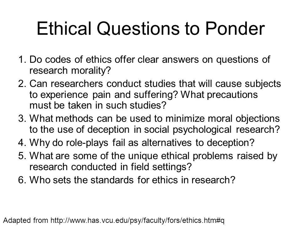 Here are the main points: [My comments are in this style of parenthesis] It is unethical to conduct research which is badly planned or poorly executed....research...must conform to generally accepted scientific principles...based on adequately performed...experimentation and on a thorough knowledge of the scientific literature.